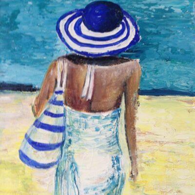 Stranddag - Acryl op doek - 40 x 60