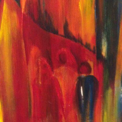 Gezin - Acryl op doek - 30 x 40