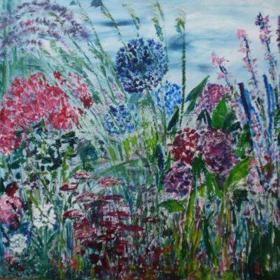 Zomergeluk - Acryl op doek - 100 x 100
