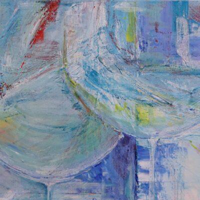 Feest - Acryl op doek - 40 x 50 - €175,-