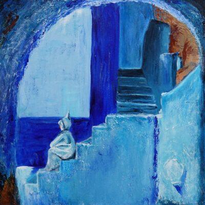 Retraite - Acryl op doek - 50 x 50 - €125,-
