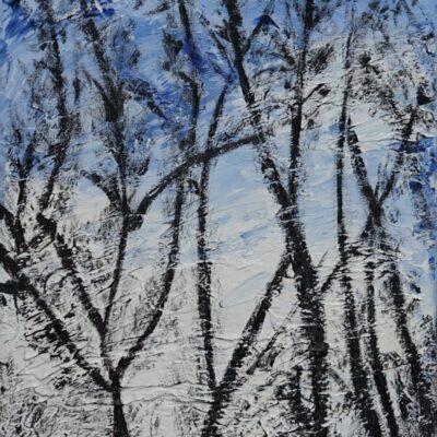 Wintertuin - Acryl op doek - 25 x 30 - €95,-