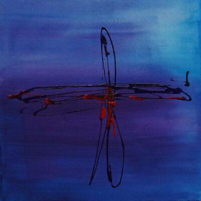 Dragonfly - Acryl op doek - 30 x 30 - €125,-
