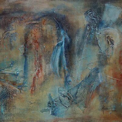 Engel - Acryl op board - 40 x 50 - €150,-