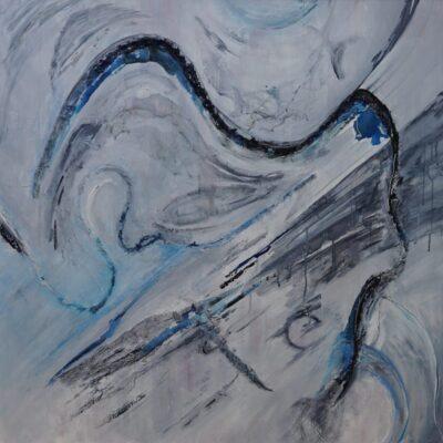 Uit de lucht 1 - Acryl op doek - 100 x 100 - €750,-