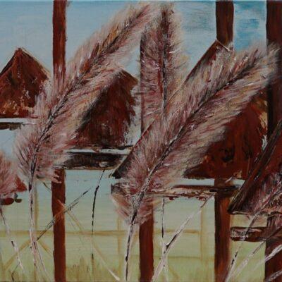Graan - Acryl op doek - 50 x 70 - €350,-