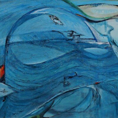 De aarde van boven - 2019 - Acryl op doek - 60 x 80 - €450,-