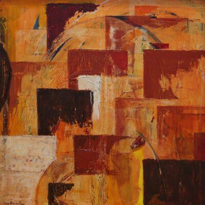 Aarde - Acryl op doek - 100 x 100 - €550,-