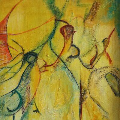 Het Raadsel - Acryl op doek - 50 x 70 - €350,-