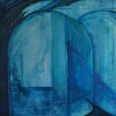 Opening - Acryl op doek - 80 x 100 - €450,-