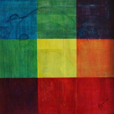 De drie gezusters - Acryl op doek - 80 x 80 - €450,-