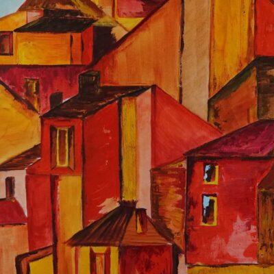 Roussillon - Acryl op doek - 50 x 70 - €350,-