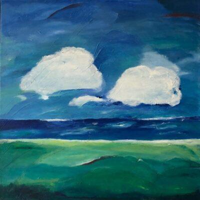 De wolken - Olie op doek - 70 x 70 - €450,-