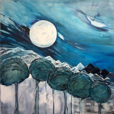 De Maan - Acryl op doek - 100 x 100 - €750,-