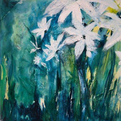 Voorjaar 1 - Acryl op doek - 50 x 50 - €175,-